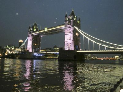 the constant magic spectacle of Tower Bridge at night