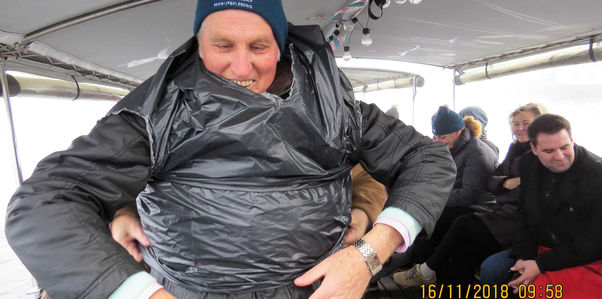 Using a bin-bag to keep yourself warm