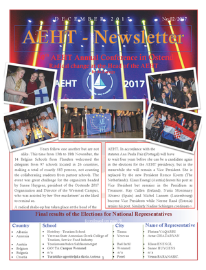 Newsletter of December 2017