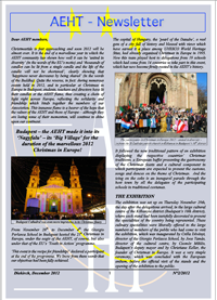 Newsletter of December 2012