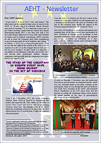 Newsletter of Decembre 2015