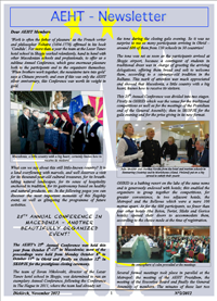 Newsletter of November 2012