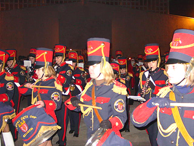 The orchestra at the front of the parade