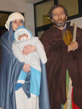 Mary, Joseph and Little Jesus, three characters inseparable from Christmas Eve.