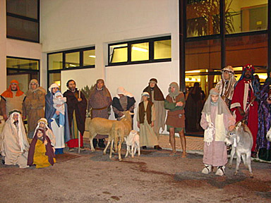 The characters from the Barbara living nativity scene. Really life-like