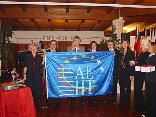 The AEHT flag has now been handed over to Bad Ischl for Christmas in Europe 2004.