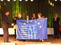 the AEHT flag is handed from Kuressaare to Dubrovnik !