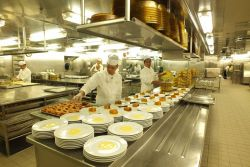In the kitchens of the Costa Mediterranea