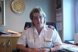 Ingrid Happ, the officer in charge of all aspects of hospitality on board