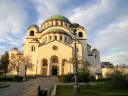 The Magnificent St Sava orthodox church which dominates the city