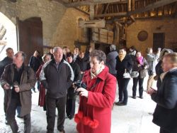 The visitors' attention is attracted by wine-presses several centuries old.