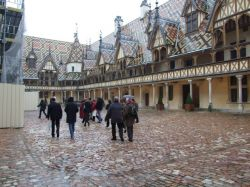 The great courtyard at the Hospices de Beaune