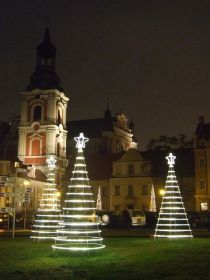 Christmas in Poznan: near to St Stanislas church