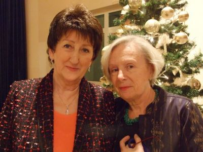 Christiane Keller (right) wished to share this photo with her friend and accomplice Danuta Przybylak, the driving force behind the 2009 Christmas in Europe in Poznan.