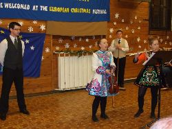Waterford (Ireland) dance, tap-dance, flute and violin, square dance with the audience