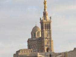 The 'Good Mother' – as Notre dame de la Garde is known – watches over the city of Marseilles