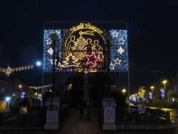 The entrance to the Christmas market