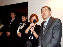 from left to right: Yvan Sutalo, Vera Sutalo, an interpreter, Ivica Lovric