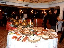 View of a small section of the buffet
