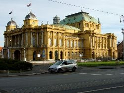 The opera house, dating from the time of the Austro-Hungarian Empire