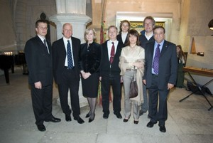 At the Bishop's Castle: Presidium in company of Mrs Urve Tiidus, mayoress of Kuressaare