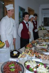 The amazing buffet which had been prepared for us at the Dubrovnik Hotel School